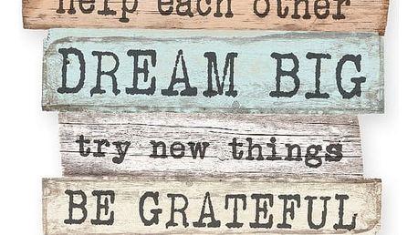 Dekorativní cedule Little Nice Things Family Rules, 50 x 30 cm