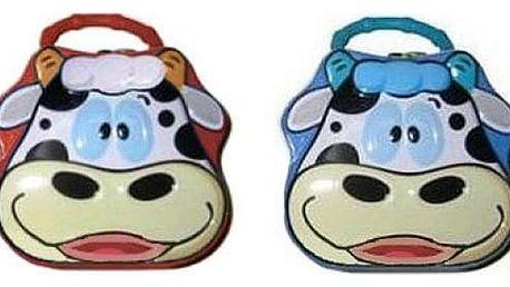 Pokladnička na klíč - kravička ve dvou barvách! Učte své děti hravě spořit!