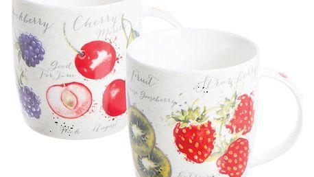 Sada 2 hrnků s motivem ovoce z porcelánu Price & Kensington Fruit Market,340ml