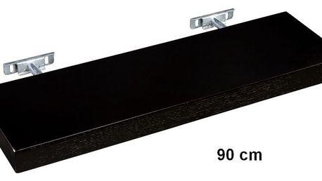STILISTA SALIENTO 30870 Nástěnná police - hnědočerná 90 cm