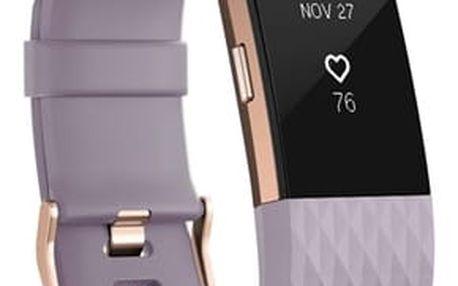 Fitness náramek Fitbit Charge 2 large - Lavender Rose Gold (FB407RGLVL-EU)