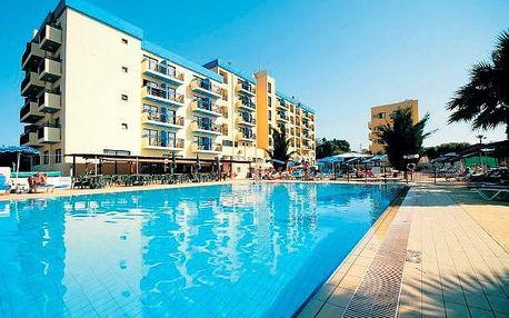 Kypr - Protaras na 11 až 13 dní, polopenze s dopravou letecky z Prahy 450 m od pláže