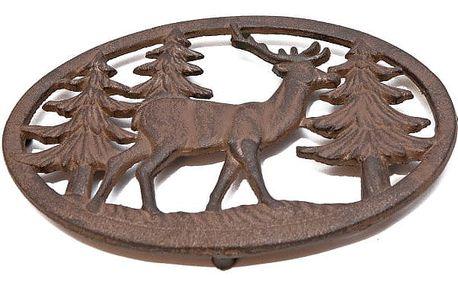 Kovová izolační podložka pod hrnec Antic Line Deer