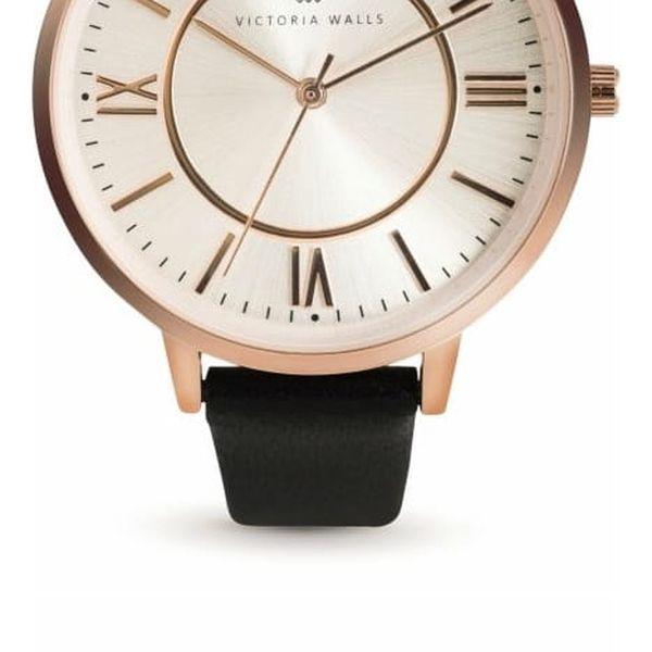 Set dámských hodinek s koženým řemínkem a páru náušnic Victoria Walls Zito