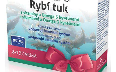 Biotter Rybí tuk s vitamínem a Omega-3 kysel.180 cps.
