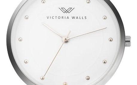 Dámské hodinky s růžovým koženým řemínkem Victoria Walls Mist
