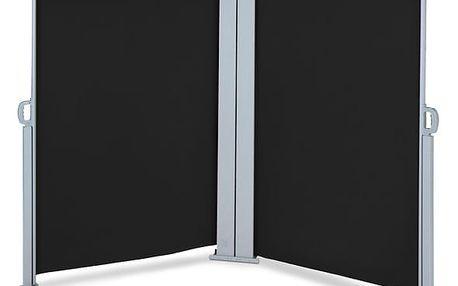 Venkovní zástěna výška 2m délka 6m HT200-6 černá Hometrade