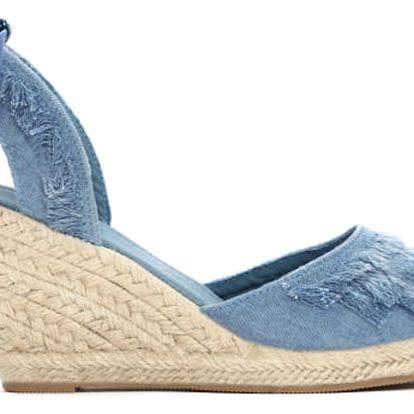 Dámské tmavě modré sandály na klínku Deanna 2071