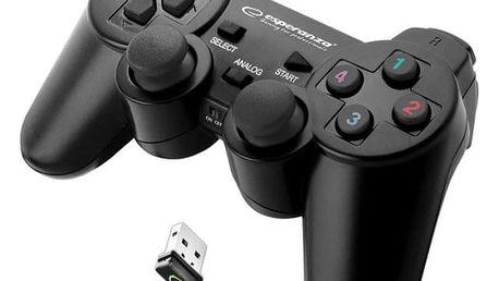 Gamepad Esperanza EGG108K Gladiator pro PC/PS3 černý (EGG108K - 5901299947234)