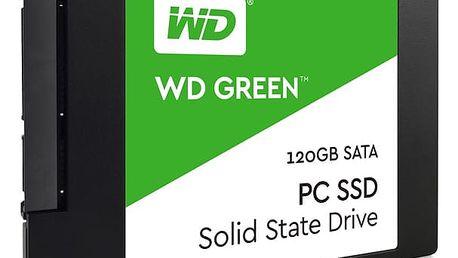 SSD Western Digital Green 2.5'', 120GB, SATA/600, 7mm, 3D NAND (WDS120G2G0A)