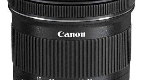 Objektiv Canon EF-S EF-S 10-18mm f/4.5-5.6 IS STM + EW73C + LC kit černý (9519B009)