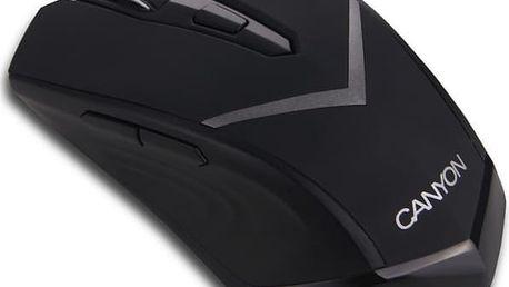Myš Canyon CNE-CMSW3 černá (/ optická / 6 tlačítek / 800dpi) (CNE-CMSW3)