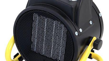 Teplovzdušný ventilátor Velamp STH2000W černý/žlutý