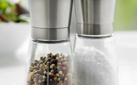 Mlýnek na sůl a pepř v nerezové barvě Steel Function Milano