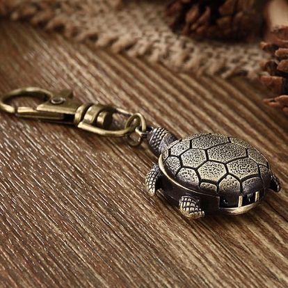 Kapesní hodinky na klíče ve tvaru želvy