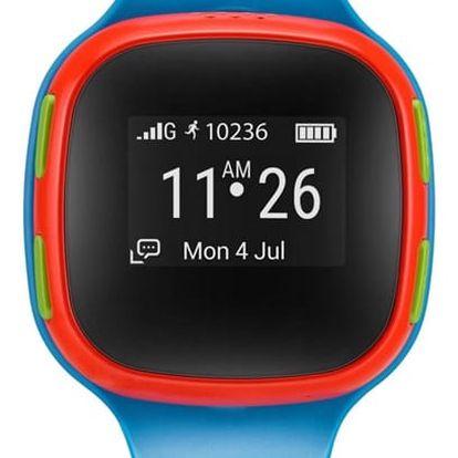 Chytré hodinky ALCATEL MOVETIME Track&Talk Watch červené/modré (SW10-2GALCZ1)