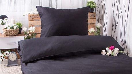 XPOSE ® Bavlněné povlečení na dvě lůžka EVITA EXCLUSIVE - černá 140x200, 70x90