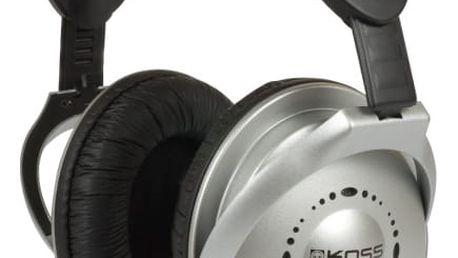 Sluchátka Koss UR 18 (doživotní záruka) černá/stříbrná