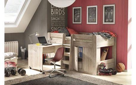 Víceúčelová postel do dětského pokoje, san remo, FANY 0000150015 Tempo Kondela