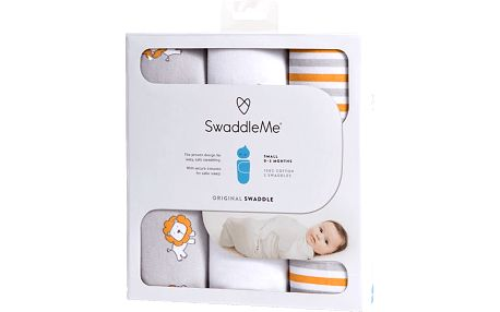 SUMMER INFANT Zavinovačka SwaddleMe Lvi/proužky 3ks
