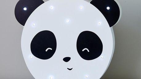 Smiling Faces Svítící LED panda, černá barva, bílá barva, dřevo
