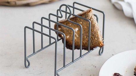 Garden Trading Drátěný stojánek na toasty Charcoal, šedá barva, kov