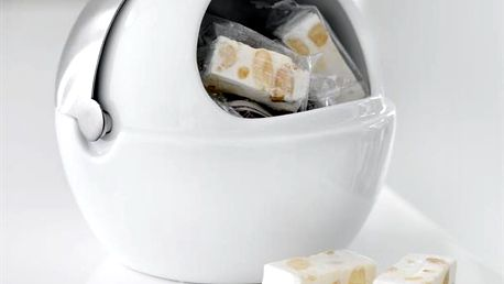 Porcelánová dóza na cukr s víčkem Steel Function Milano