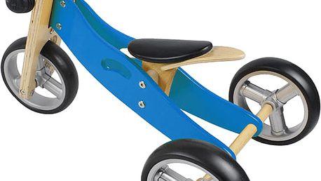 NICKO Dřevěné odrážedlo 2v1 mini trojkolka – modré
