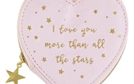 sass & belle Peněženka na drobnosti Love you, růžová barva, kov, plast