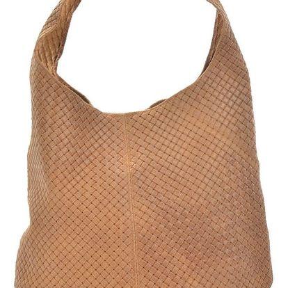 Koňakově hnědá kožená kabelka Mangotti Bags Abelie
