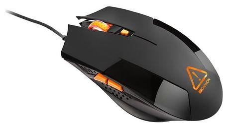 Myš Canyon Vigil černá (/ optická / 6 tlačítek / 2400dpi) (CND-SGM2)