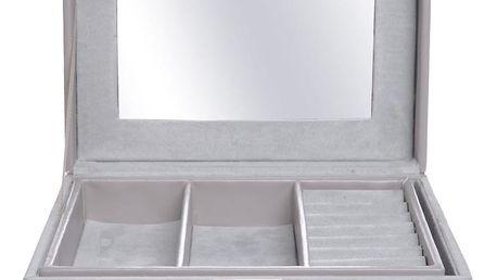 Šedá dřevěná úložná krabička Ewax Sinto, 220,5 x 16 x 10,5 cm
