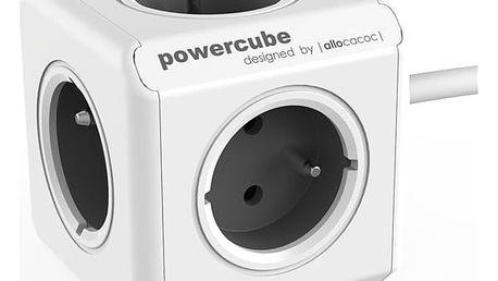 Kabel prodlužovací Powercube Extended, 5x zásuvka, 1,5m šedý/bílý