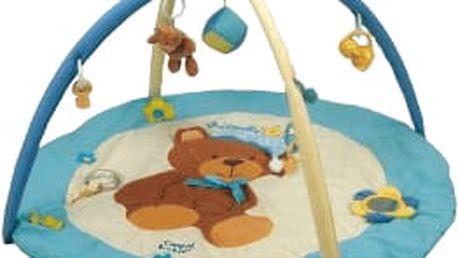 CANPOL BABIES Hrací koberec hrající s hrazdičkou MEDVÍDEK