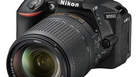 Digitální fotoaparát Nikon D5600 + 18-140 AF-S VR (VBA500K002) černý + DOPRAVA ZDARMA