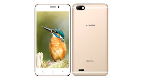 Mobilní telefon Aligator S5070 Dual SIM (AS5070GD) zlatý Software F-Secure SAFE, 3 zařízení / 6 měsíců v hodnotě 979 Kč