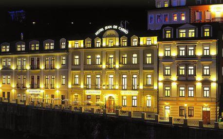 Hotel Jean de Carro**** v Karlových Varech s wellness a polopenzí