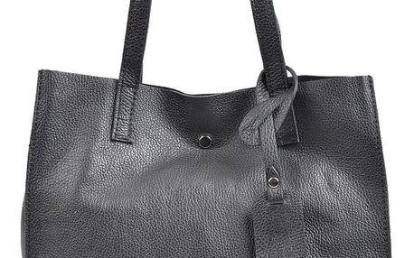Černá kožená kabelka Isabella Rhea Tote