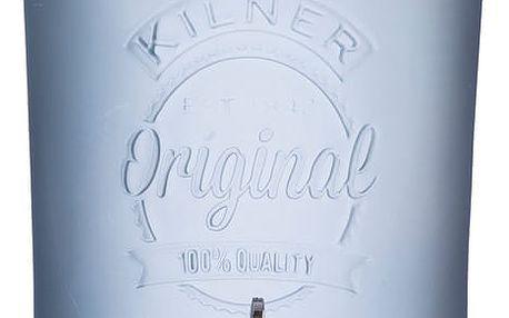Mléčně modrý skleněný nápojový automat s kohoutkem Kilner, 5 l