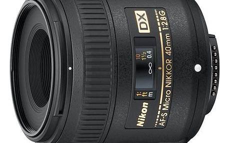 Objektiv Nikon NIKKOR 40mm f/2.8G ED AF-S DX MICRO černý + DOPRAVA ZDARMA