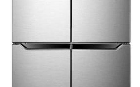 Americká lednice ETA 139090010 stříbrná + DOPRAVA ZDARMA