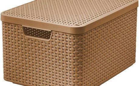 CURVER 41120 Košík box s víkem - L - mocha