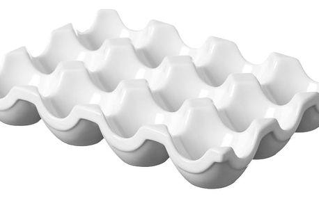 Bílý stojan na vajíčka z porcelánu Price&Kensington Simplicity