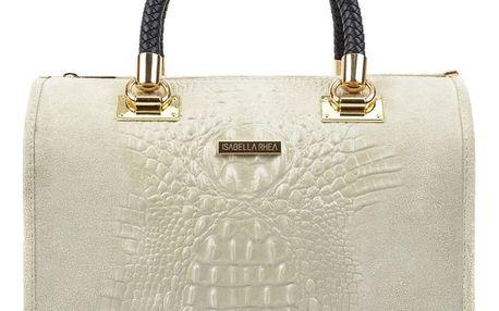 Béžová kožená kabelka Isabella Rhea Karma