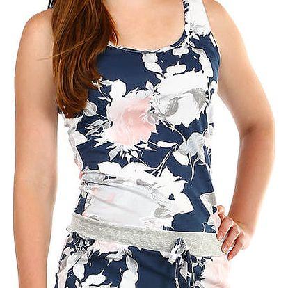 Dámské krátké šaty s potiskem modrá