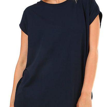 Dámské dlouhé tričko s krátkým rukávem tmavě modrá