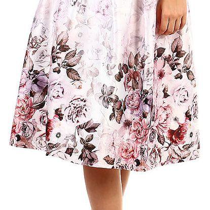 Dámská skládaná retro sukně bílá