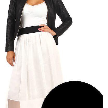 Dámská romantická tylová sukně černá