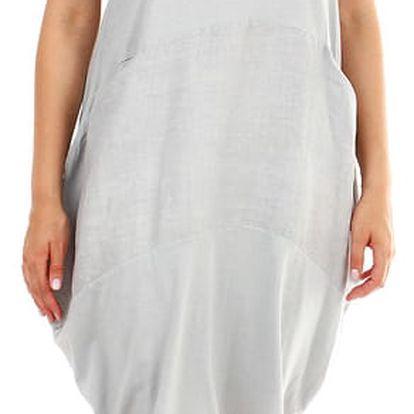 Dámské plážové oversized šaty šedá