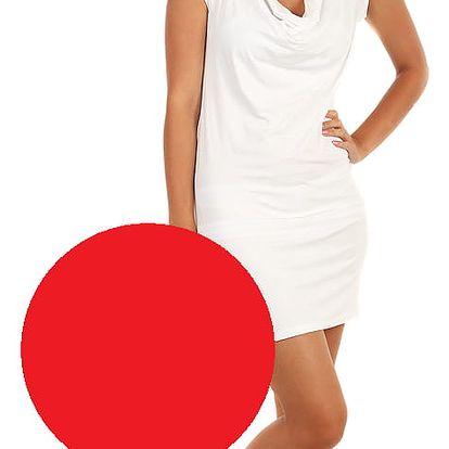 Jednobarevné šaty pro volný čas červená